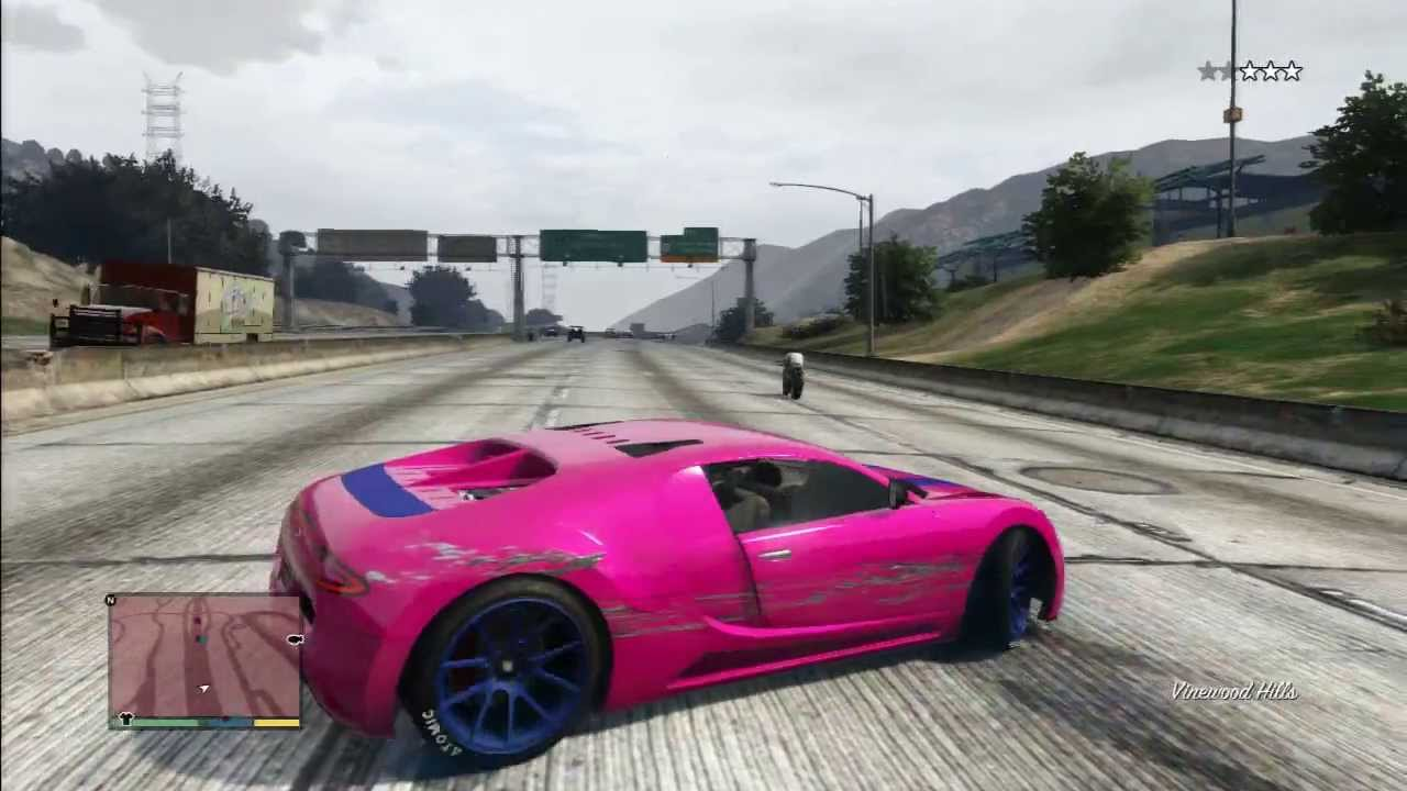 Gta 5 Pink Bugatti Veyron Drift Youtube