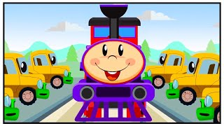 The Train - Counting with Cars - New Cartoon Animation for Kids