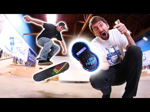 THE WORLD'S FIRST ELECTRONIC GAME OF SKATE?!