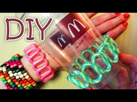 Diy Bracelet Out Of A Drinking Straw Recycle Youtube