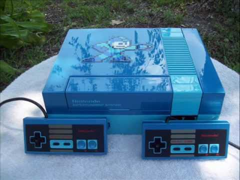 Custom Mega Man themed NES Nintendo with bosses