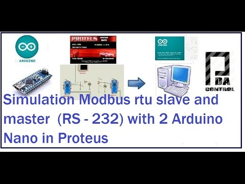 Simulation Modbus RTU Slave and Master  with 2 Arduino Nano in Proteus #arduino : Nitro