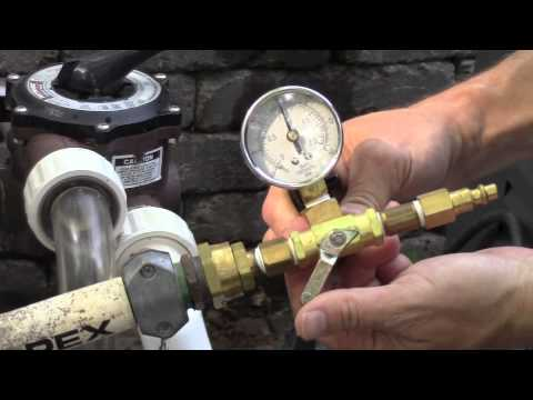Pressure Testing Swimming Pool Plumbing Youtube