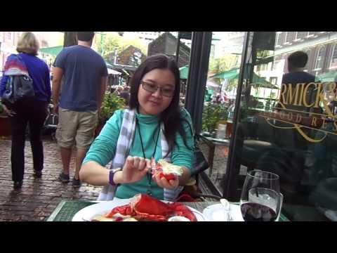 Restaurant Lobster Lunch near Quincy Market, Boston, USA