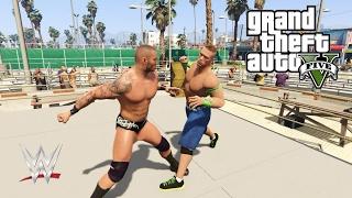 GTA 5 WWE WRESTLING MOD (John Cena, Randy Orton, Finn Balor)