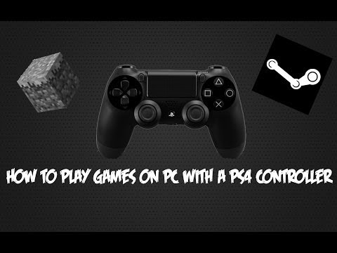 How to play games on PC with PS4 controller (including minecraft)