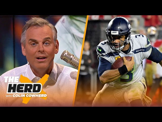 Colin is in awe of Russell Wilson's performance, isn't worried about Garoppolo | NFL | THE HERD thumbnail
