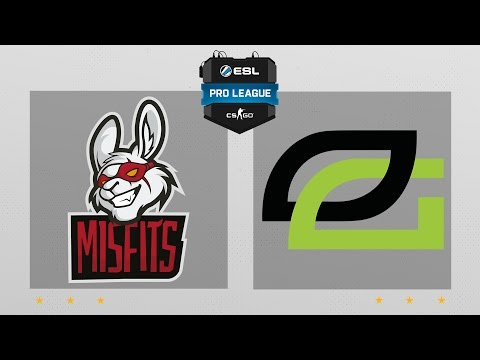 CS:GO - Misfits vs. OpTic [Cbble] Map 1 - ESL Pro League Season 5 - NA Matchday 18