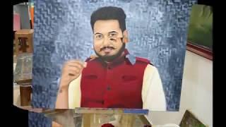 Kalabhumi Student Anjali Godara-  made Realistic Portrait Painting Oil on Canvas