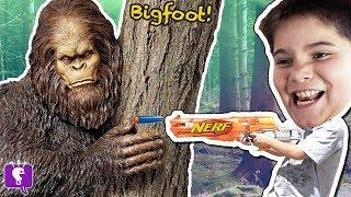 BIGFOOT KID TREASURE! Toy Surprise Adventure MYSTERY + VIDEO Gaming with HobbyKidsTV