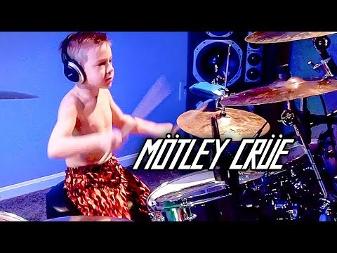 """Girls Girls Girls"" Avery 6 year old Drummer"