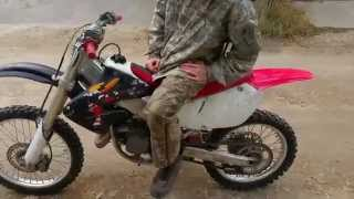 1999 Honda Cr125 First Start After Engine Re Install