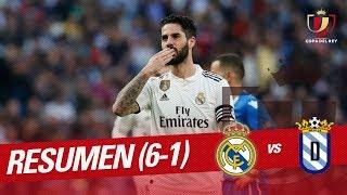 Resumen de Real Madrid vs UD Melilla 6-1