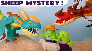 Funny Funlings Sheep Mystery with How To Train Your Dragon toy story for kids TT4U