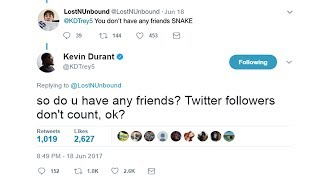 KEVIN DURANT ROASTED US ON TWITTER