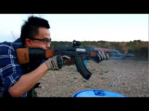 YUGO PAP M70 AK-47 rapid fire practice run