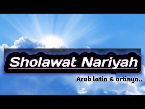 Sholawat Nariyah Arab - Latin & Artinya...