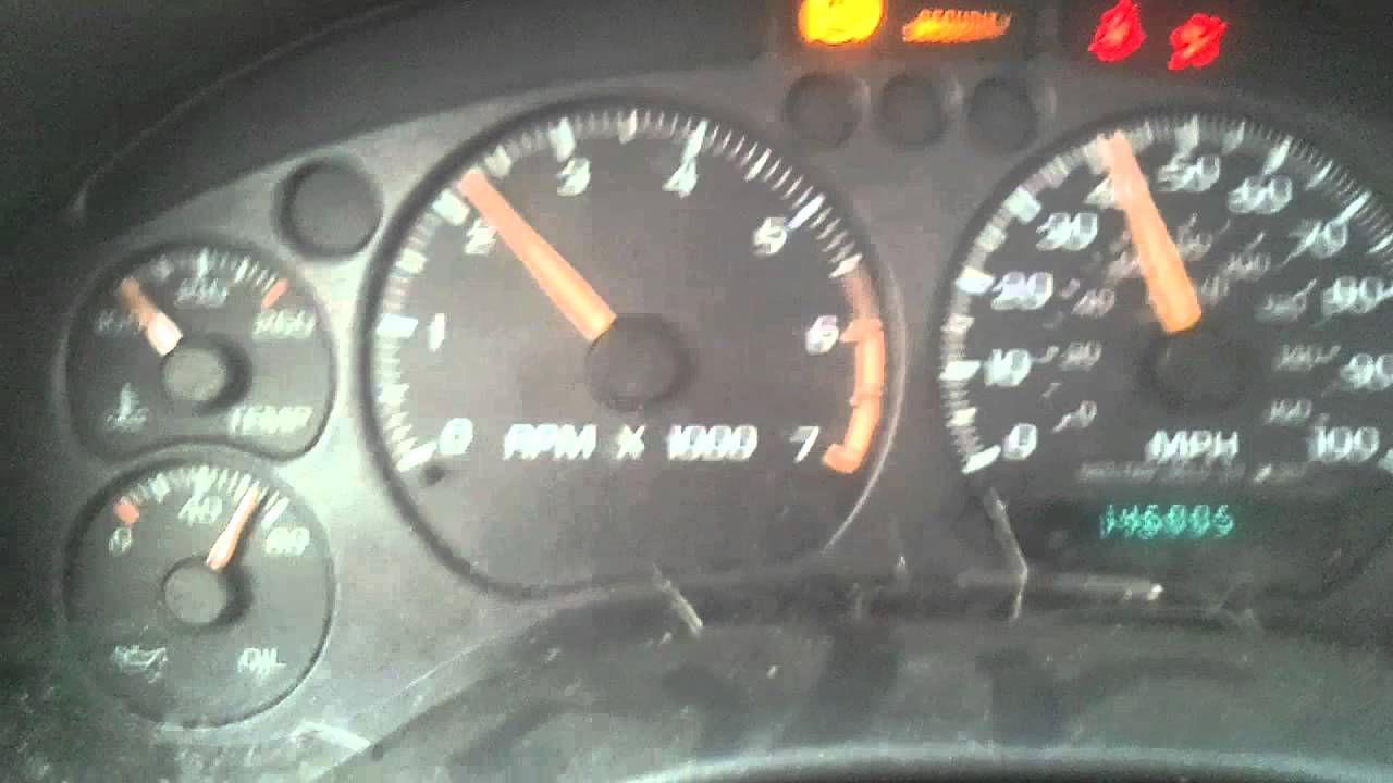 2002 Chevrolet S10 - Gauge Cluster Blinking