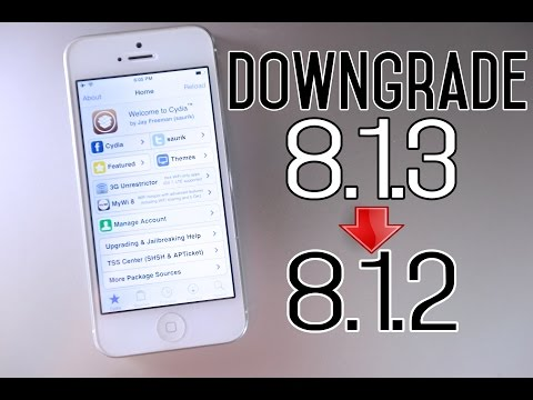 How To Downgrade iOS 8.1.3 to iOS 8.1.2 & Jailbreak Untethered