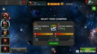 See Who wins! Captain America(infinity war)or captain America in Marvel Contest of Champions