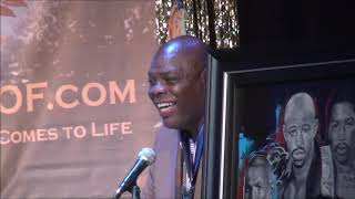 Iran Barkley gets inducted into the Atlantic City Boxing Hall of Fame