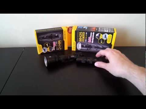 Nitecore MT Hybrid series: MH25 (1x18650). MH1C (1xRCR) rechargeable light reviews. by selfbuilt