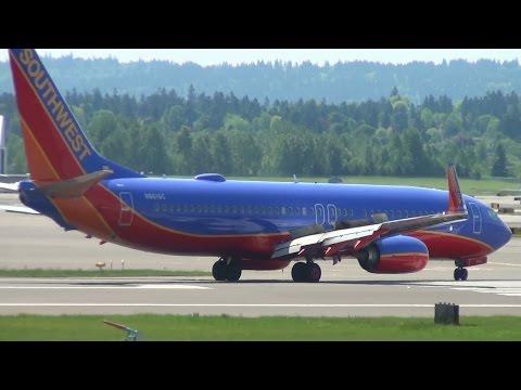 Southwest Airlines N8616C 737-800 Landing Portland Airport (PDX)