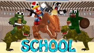 Minecraft School | MILITARY SCHOOL OF BOSSES - T-Rex Dinosaur Hunters!