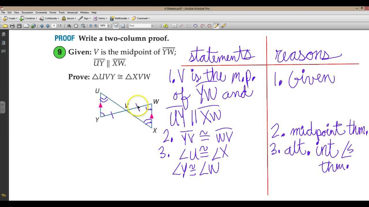 Congruent triangles worksheet pdf