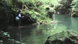 Pêche à vue sur la Loue.