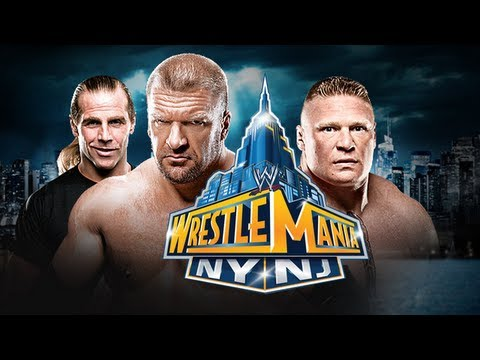 WRESTLEMANIA 29 - BROCK LESNAR vs TRIPLE H - CAREER MATCH! (WWE 13 Machinima)