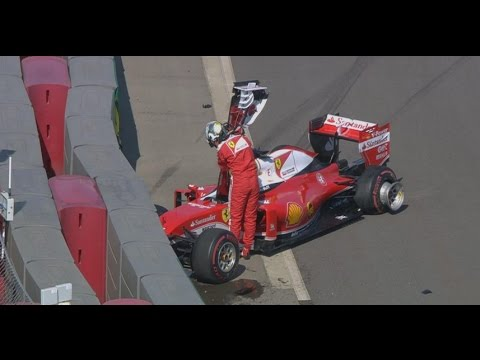 Vettel's crash in Russia 2016
