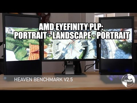 PLP Eyefinity Setup & Game Demo Real w/ 3x 1080p & Radeon R9 285