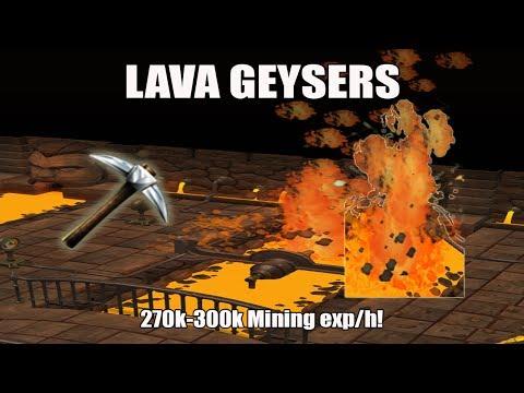 [Runescape 3] Lava Geyser Mining Guide | 270k-300k Mining Exp/h | Fast Mining Method