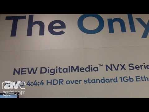ISE 2017: Crestron Highlights New DigitalMedia NVX Series 4K60 HDR Over Standard 1Gb Ethernet