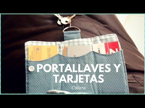 Porta llaves y tarjetas Paso a Paso // keychain Step by Step 2018 + Molde Gratis!