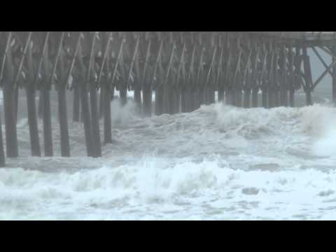 7/3/2014 Hurricane Arthur Surf City, NC outer eye wall feeder bands.