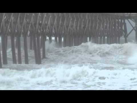 7/3/2014 Hurricane Arthur Surf City, NC outer eye wall feeder bands.