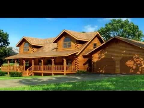 Casas de madera maciza modelo river view en 3d youtube - Casas prefabricadas para el campo ...