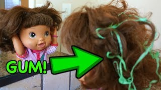 BABY ALIVE Janice Gets Gum In Her Hair!