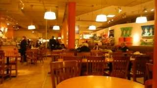 Eating at Au Bon Pain in Macy's in NYC