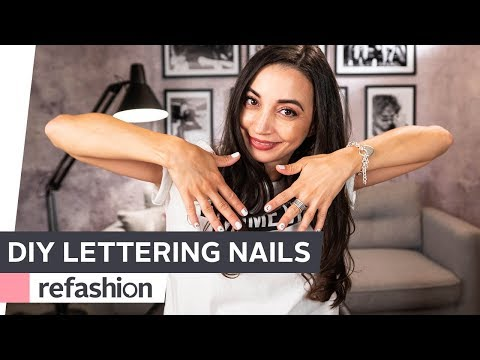 DIY: Lettering Nails ~ refashion | OTTO