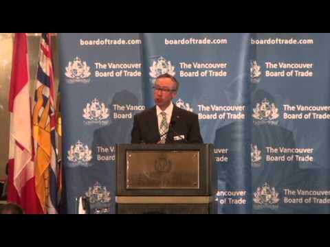 Industrial Alliance CEO Yvon Charest addresses The Vancouver Board of Trade