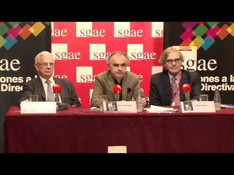 Elecciones SGAE. Rueda de prensa (parte 4).