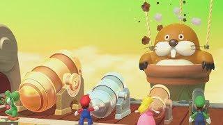 Mario Party 10 All Boss MiniGames - Mario Vs Luigi Vs Peach Vs Yoshi (Master Cpu)