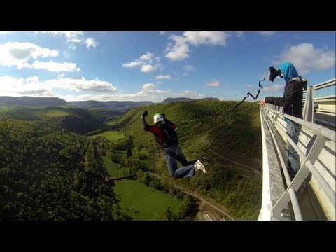French Bridge BASE jumping, May 2013