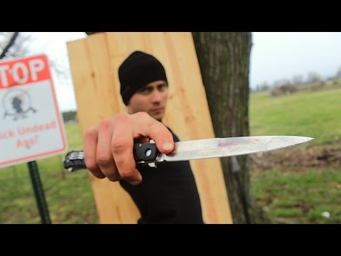Best Edc Throwing Knife! Zombie Go Boom! video