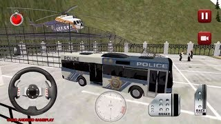 Police Bus Simulator: Driving Games - Long Police Bus Transport Offroad Android GamePlay FHD