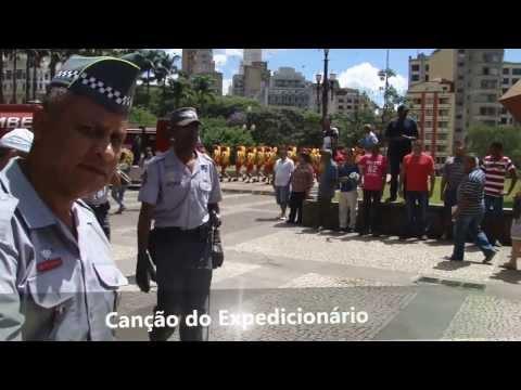 Cerimônia De Aniversário Pelos 134 Anos Do Corpo De Bombeiros De São Paulo - Hino Nacional E Desfile video