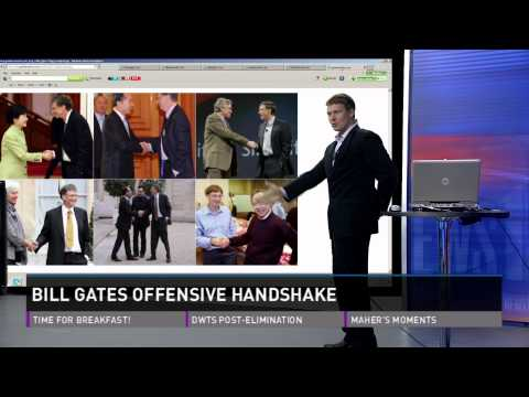 Bill Gates Offensive Handshake, and SpaceX Rocket Launch